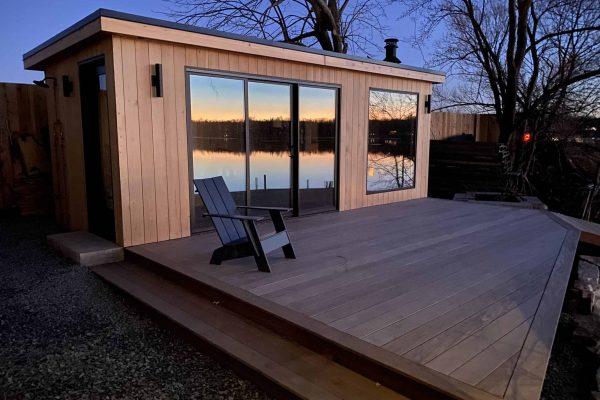 Sauna-Research-Institute-sauna-at-sunset